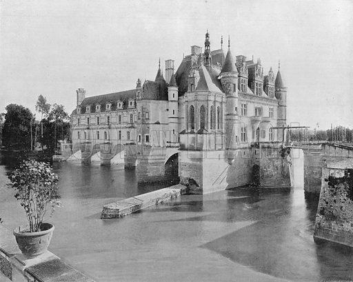 Le Chateau de Chenonceaux. Photograph for Le Panorama Merveilles de France (De Neurdein, c 1895).