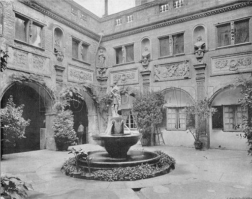 Toulouse - Le Musee la Fontaine. Photograph for Le Panorama Merveilles de France (De Neurdein, c 1895).
