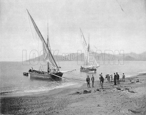Les Environs de Cannes - L'Esterel. Photograph for Le Panorama Merveilles de France (De Neurdein, c 1895).