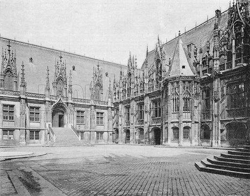 Rouen - Le Palais de Justice. Photograph for Le Panorama Merveilles de France (De Neurdein, c 1895).