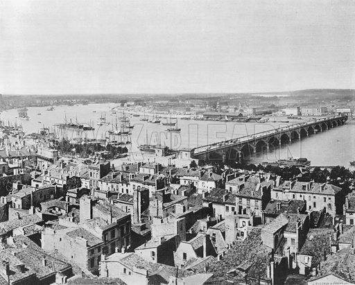Bordeaux - Le Pont de Pierre. Photograph for Le Panorama Merveilles de France (De Neurdein, c 1895).