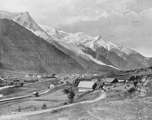 Chamonix - Le Mont-Blanc. Photograph for Le Panorama Merveilles de France (De Neurdein, c 1895).