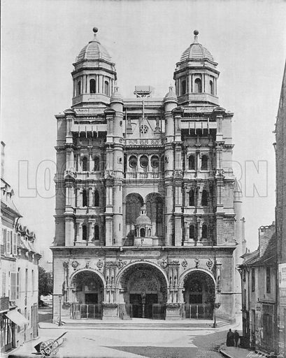 Dijon - L'Eglise Saint-Michel. Photograph for Le Panorama Merveilles de France (De Neurdein, c 1895).