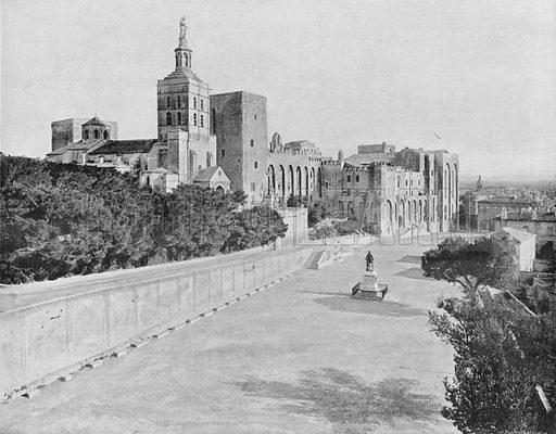 Avignon - Le Palais des Papes - La Cathedrale. Photograph for Le Panorama Merveilles de France (De Neurdein, c 1895).