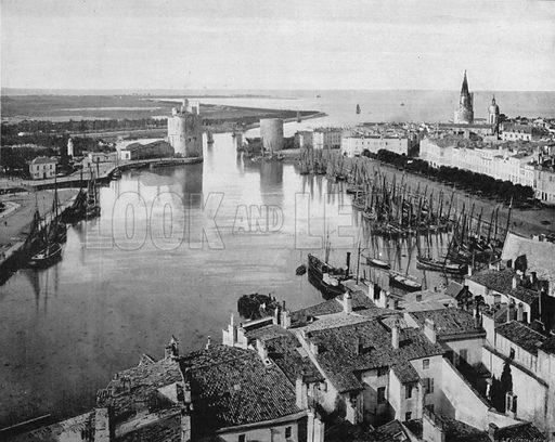 La Rochelle - Vue Generale. Photograph for Le Panorama Merveilles de France (De Neurdein, c 1895).