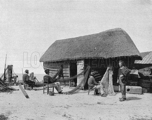 Etretat - Une Caloge. Photograph for Le Panorama Merveilles de France (De Neurdein, c 1895).