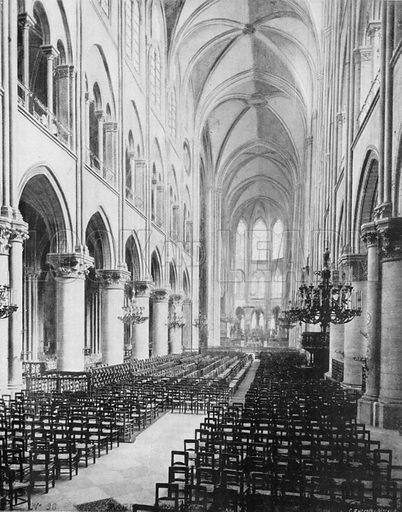 Notre-Dame de Paris, La Nef et le Chaeur. Photograph for Le Panorama Merveilles de France (De Neurdein, c 1895).