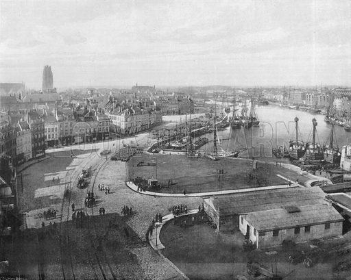 Dunkerque - Vue Generale. Photograph for Le Panorama Merveilles de France (De Neurdein, c 1895).