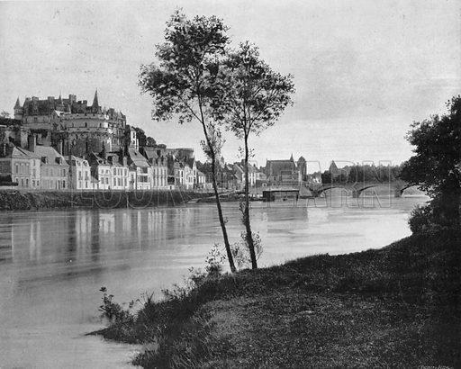 Amboise - Vue Generale. Photograph for Le Panorama Merveilles de France (De Neurdein, c 1895).