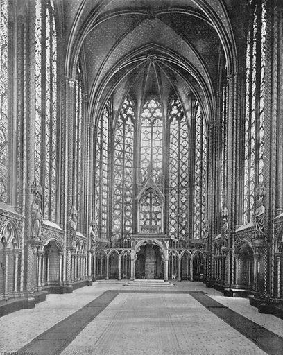 Paris - La Sainte-Chapelle - Le Reliquaire. Photograph for Le Panorama Merveilles de France (De Neurdein, c 1895).