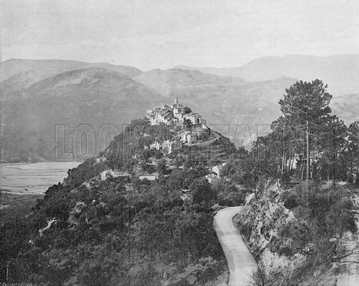 Vallee du Var - Laroquette. Photograph for Le Panorama Merveilles de France (De Neurdein, c 1895).