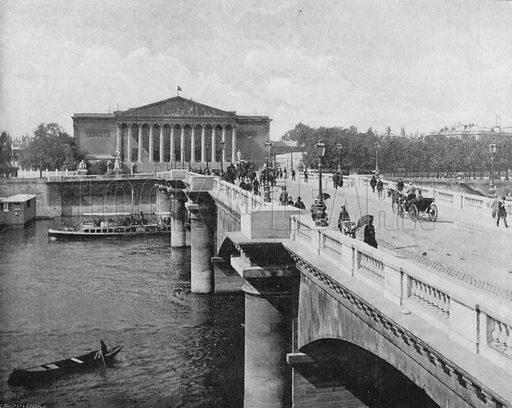 Le Pont de La Concorde et la Chambre des Deputes. Photograph for Le Panorama Merveilles de France (De Neurdein, c 1895).
