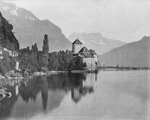 Le Chateau de Chillon et Lac Leman. Photograph for Le Panorama Merveilles de France (De Neurdein, c 1895).