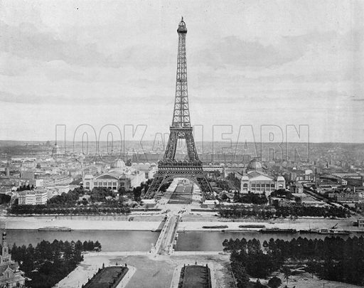 Paris - La Tour Eiffel et le Champ de Mars. Photograph for Le Panorama Merveilles de France (De Neurdein, c 1895).