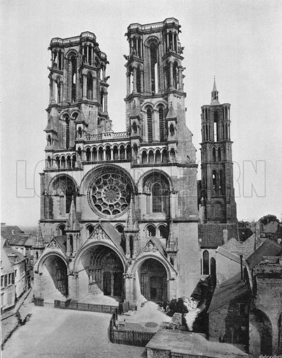 La Cathedrale de Laon. Photograph for Le Panorama Merveilles de France (De Neurdein, c 1895).