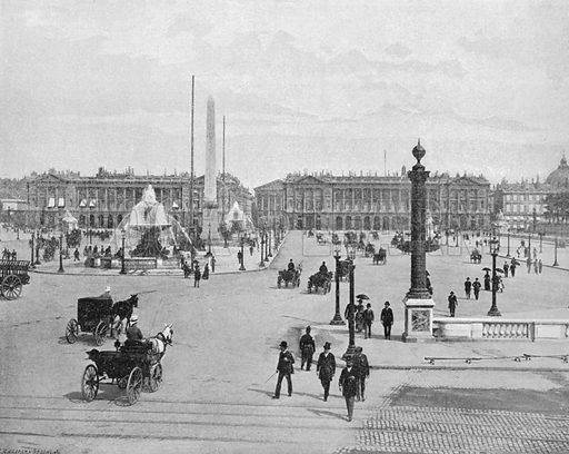 Paris - La Place de la Concorde. Photograph for Le Panorama Merveilles de France (De Neurdein, c 1895).