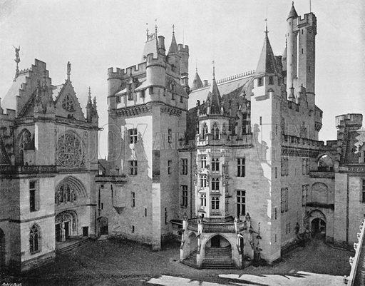 Chateau de Pierrefonds - La Chapelle et L'Escalier D'Honneur. Photograph for Le Panorama Merveilles de France (De Neurdein, c 1895).