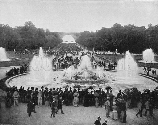Versailles - Le Bassin de Latone Pendant les Grandes Eaux. Photograph for Le Panorama Merveilles de France (De Neurdein, c 1895).