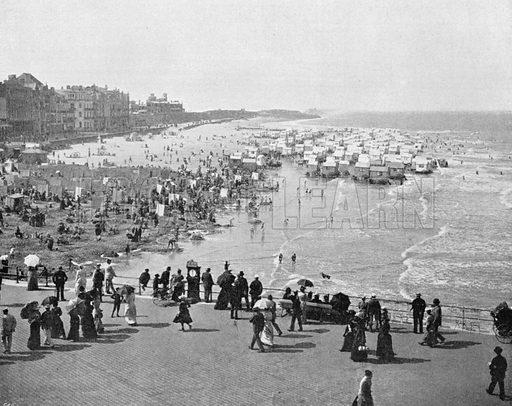 Ostende - Le Kursaal et la Plage. Photograph for Le Panorama Merveilles de France (De Neurdein, c 1895).