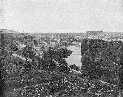Poitiers - Vue Generale. Photograph for Le Panorama Merveilles de France (De Neurdein, c 1895).