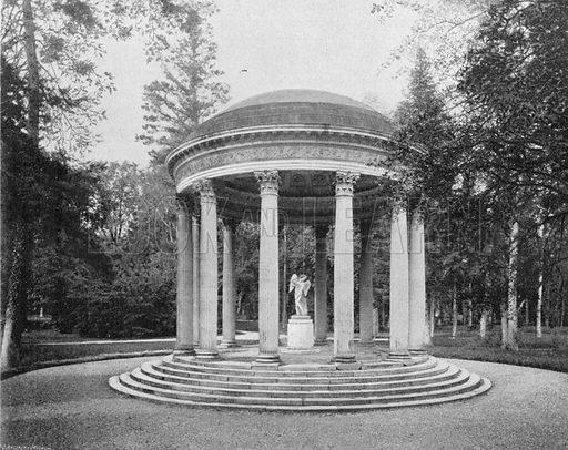 Versailles - Le Temple de L'Amour a Trianon. Photograph for Le Panorama Merveilles de France (De Neurdein, c 1895).