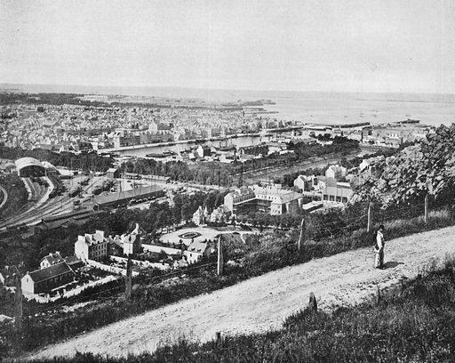 Cherbourg - La Ville et la Rade. Photograph for Le Panorama Merveilles de France (De Neurdein, c 1895).