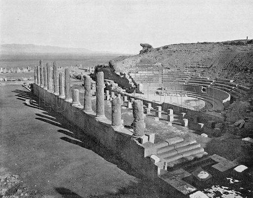 Algerie - Ruines Romaines de Thamugas - Le Theatre. Photograph for Le Panorama Merveilles de France (De Neurdein, c 1895).