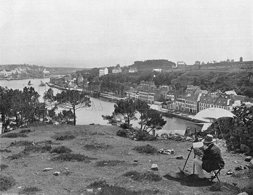 Audierne - Vue Generale. Photograph for Le Panorama Merveilles de France (De Neurdein, c 1895).