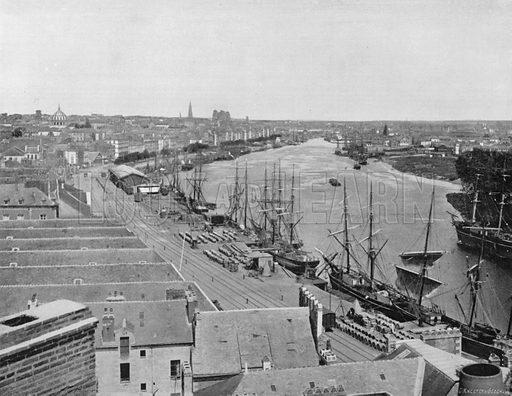 Nantes - Vue Generale. Photograph for Le Panorama Merveilles de France (De Neurdein, c 1895).