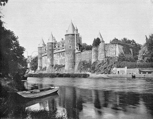 Le Chateau de Josselin. Photograph for Le Panorama Merveilles de France (De Neurdein, c 1895).