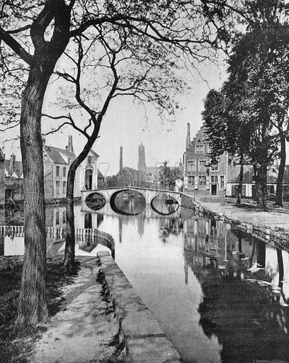 Bruges - Le Canal et le Beguinage. Photograph for Le Panorama Merveilles de France (De Neurdein, c 1895).