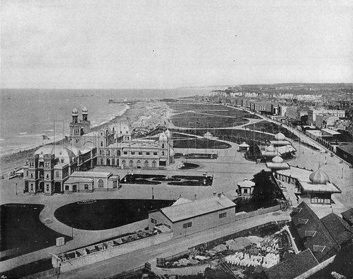 Dieppe - La Place et le Casino. Photograph for Le Panorama Merveilles de France (De Neurdein, c 1895).