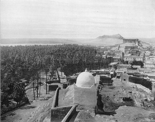 Laghouat - Vua Generale. Photograph for Le Panorama Merveilles de France (De Neurdein, c 1895).