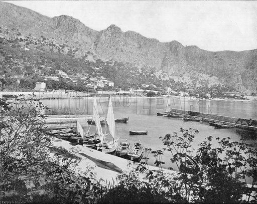 Beaulieu - Le Port. Photograph for Le Panorama Merveilles de France (De Neurdein, c 1895).