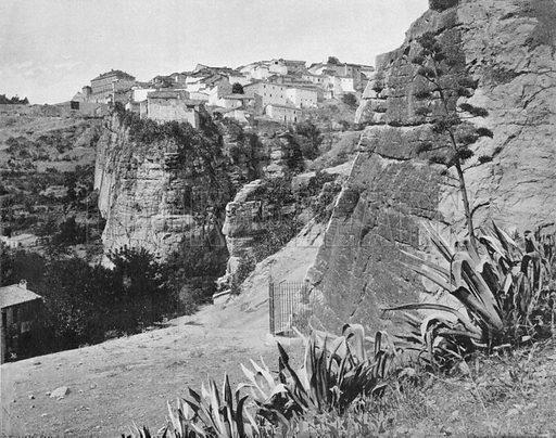 Constantine - Le Rocher des Martyrs. Photograph for Le Panorama Merveilles de France (De Neurdein, c 1895).