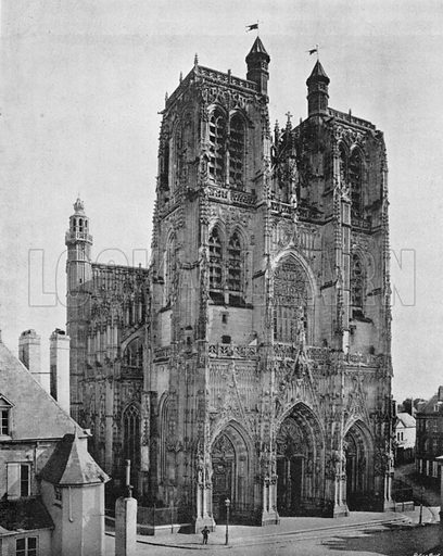 Abbeville - L'Eglise Saint-Wulfran. Photograph for Le Panorama Merveilles de France (De Neurdein, c 1895).