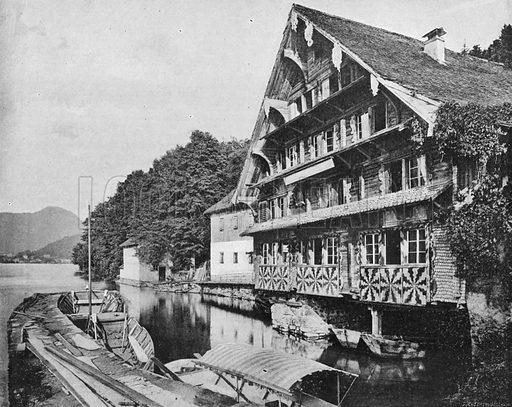 Suisse - Lac des Quatre-Cantons - Un Chalet a Treib. Photograph for Le Panorama Merveilles de France (De Neurdein, c 1895).
