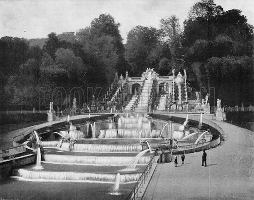 Saint-Cloud - La Cascade. Photograph for Le Panorama Merveilles de France (De Neurdein, c 1895).