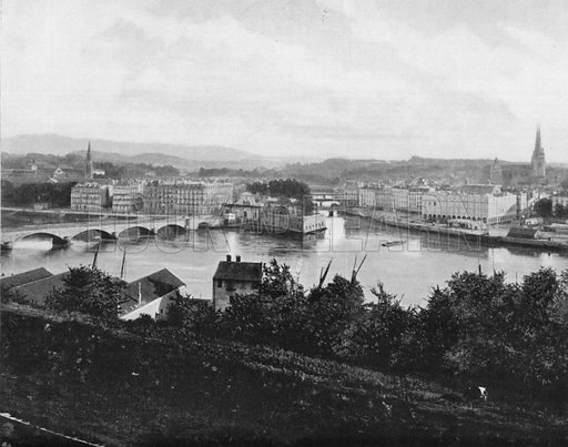 Bayonne. Photograph for Le Panorama Merveilles de France (De Neurdein, c 1895).
