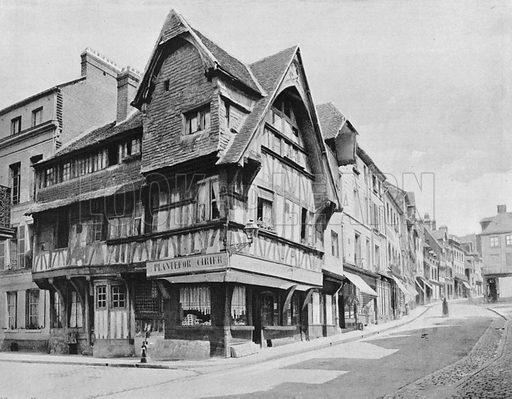 Les Vieilles Mainsons de Lisieux. Photograph for Le Panorama Merveilles de France (De Neurdein, c 1895).