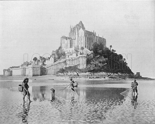 Le Mont-Saint-Michel. Photograph for Le Panorama Merveilles de France (De Neurdein, c 1895).