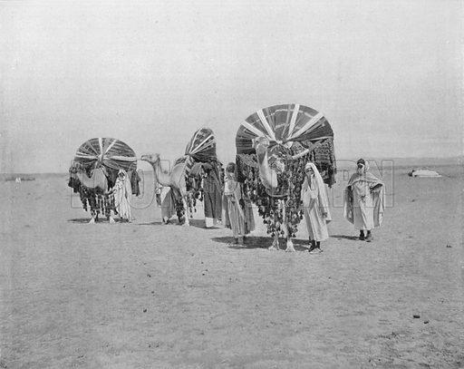 Sahara Algerien – Les Bassours. Photograph for Le Panorama Merveilles de France (De Neurdein, c 1895).