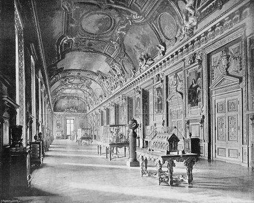 La Galerie D'Apollon, Au Louvre. Photograph for Le Panorama Merveilles de France (De Neurdein, c 1895).