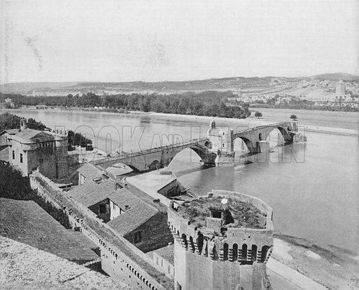 Le Pont D'Avignon. Photograph for Le Panorama Merveilles de France (De Neurdein, c 1895).