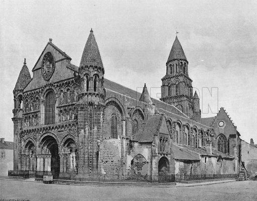 Poitiers – Notre-Dame la Grande. Photograph for Le Panorama Merveilles de France (De Neurdein, c 1895).