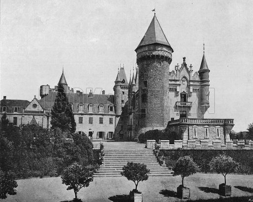 Environs de Vichy – Le Chateau de Busset. Photograph for Le Panorama Merveilles de France (De Neurdein, c 1895).