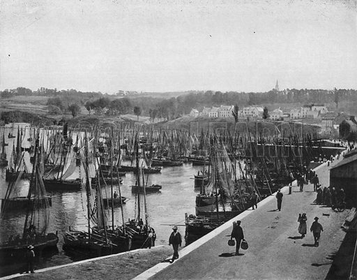 Bretagne – Le Port de Douarnenez. Photograph for Le Panorama Merveilles de France (De Neurdein, c 1895).