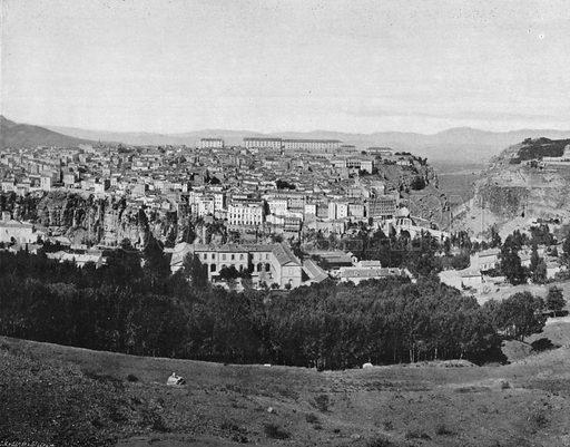 Algerie – Vue Generale de Constantine. Photograph for Le Panorama Merveilles de France (De Neurdein, c 1895).