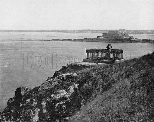 Saint-Malo – Le Tombeau de Chateaubbiand. Photograph for Le Panorama Merveilles de France (De Neurdein, c 1895).