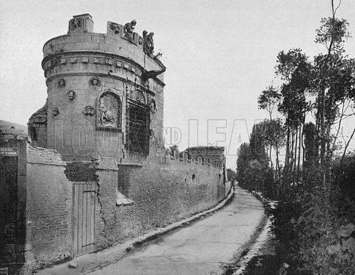 Caen – La maison des Gens D'Armes. Photograph for Le Panorama Merveilles de France (De Neurdein, c 1895).